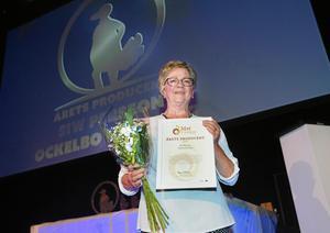 Siw Persson, Ockelbo kyckling, har genom ett intensivt tävlande och målmedveten produktutveckling vunnit juryns gillande och fick ett pris som årets producent.