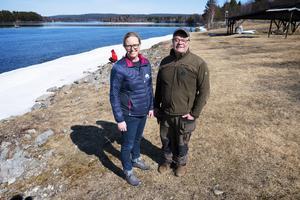 Arrendatorerna av Bergeforsfisket, Annelie och Torbjörn Hamrin.