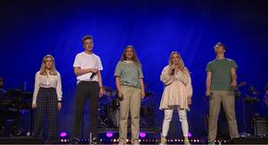 Isabel Holmgrens grupp i gruppmomentet. Foto: TV4