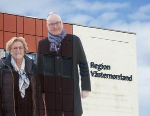 Lena Asplund och Per Wahlberg Moderaternas första- respektive andranamn till Region Västernorrland.