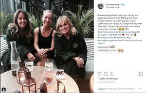 Linda Myrberg, Jessica Wahlgren och Pernilla Wahlgren.