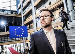 Foto: Tomas Oneborg / SvD / TT    Centerpartiets toppkandidat Fredrick Federley fotograferad i EU-parlamentet i Strasbourg.