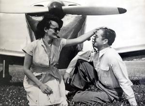 Olov och Elisabeth på en bild från början av 50-talet. Foto: Privat