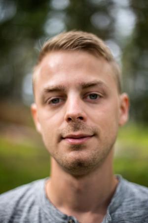 Christoffer Hallbäck, biolog på Norrtälje Naturcentrum.
