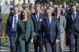 Annie Lööf och Jan Björklund röstade nej till Ulf Kristersson som ny statsminister – falskt, menar signaturen I.L. Bild: Anders Wiklund/TT