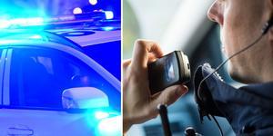 Polisen försökte att stoppa en ung man från Ösmo, som körde personbil på ett vårdslöst sätt.