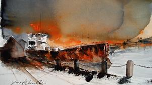 Målning av Jonas Karlsson Rahme. (Bilden är beskuren)