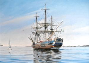 Jan-Åke Svenheden målar gärna marina motiv.