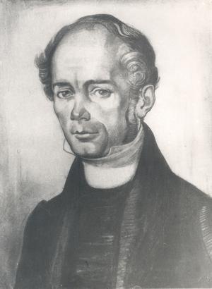 Friedrich Robert Faehlmann. Porträtt av Nikolai Triik.