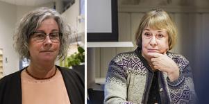 Skolchef Monica Hallquist (till vänster) medger att kommunen haft felaktiga uppgifter sedan tidigare elevhälsochefen Inga-Lill Öjemark slutade i september.
