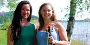 Pianisten Emma Johansson och Jenny Augustinsson som spelar viola kommer till Lohärads kyrka den 24 juli.