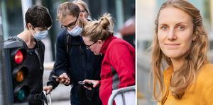 Folkhälsomyndigheten borde inte uttrycka sig så tvärsäkert, enligt forskaren Malin Alsved. FOTO: Johan Nilsson/TT och pressbild.