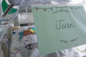 Ture Fridland föddes i vecka 29 efter en väldigt dramatisk förlossning. På ganska kort tid har Ture nu blivit alltmer stabil och allt starkare. Sakta men säkert ökar hans vikt och läget ser väldigt ljust ut.