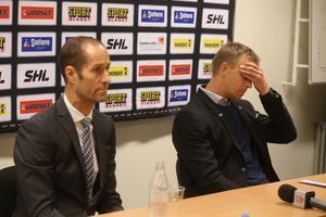 Modos tränare Anders Forsberg (vänster) och Skellefteås tränare Bert Robertsson (höger.