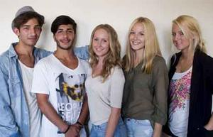 Partypolare. Adel Shukri, Ravin Akrawi, Malin Lindström, Helen Meijer och Emma Wiesner har alla varit på partysemestrar.