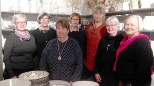 Kostcheferna, från vänster, Eva-Britt Borg-Björnström, Birgitta Månsson, Inger Salomonsson, Ann-Louise Klasgren, Lisbeth Lagerfelt, Birgitta Larsson och Gunbritt Olofsdotter träffades över en lunch.