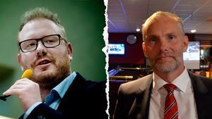 Robert Thunfors (T) och Stefan Dalin (S) är inte överens när det gäller skattehöjning eller inte.