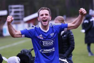 Erik Wästman jublade när Rengsjö fixade kvalet till trean hösten 2015, och aviserade sedan att det färdigspelat på den nivån. Men nu är han alltså tillbaka.