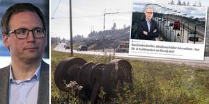 Utbyggnaden av E14 är bara en av flera infrastruktursatsningar som Sundsvall har fått, menar Peder Björk (S). Montage: Robin Brinck