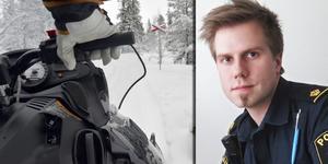 David Redin, Jämtlandspolisen. Bilden är ett montage av två arkivbilder. Foto: Nisse Schmidt/Ingmar Reslegård