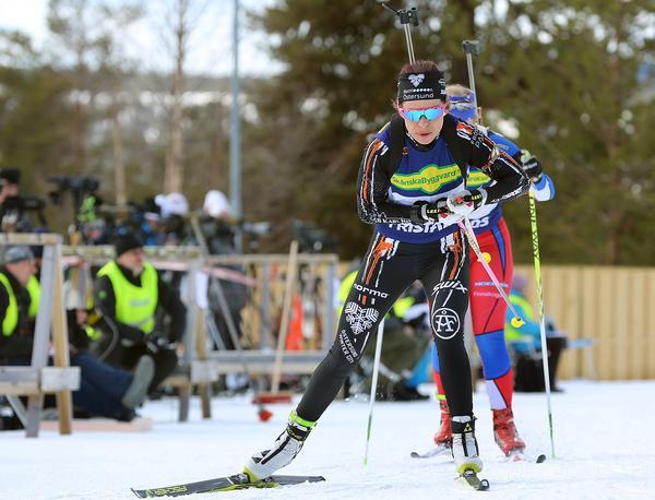 Elisabeth Högberg, Östersund, vann tre SM-guld av tre möjliga.