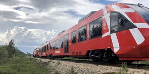 Ett av de nyinköpta tågseten från Nederländerna. Foto: Inlandsbanan AB