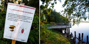 Miljögifter i marken har lett till att kommunen har tagit bort vindskydd och grillring vid Saras brygga i Köpmanholmen.