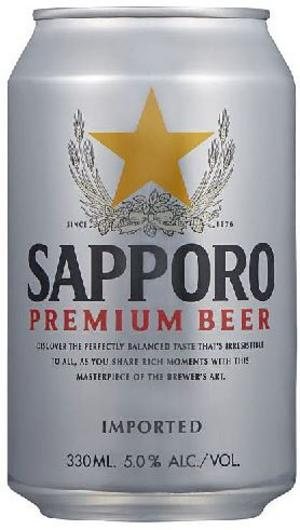 Sapporo Premium Beer.