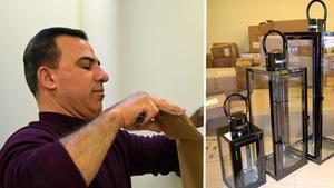 Majid Alzahairi öppnar heminredningsbutik i centrum. En bidragande orsak är tullavgifterna för varor från Kina. Nu vill han ta Kina till Borlänge.