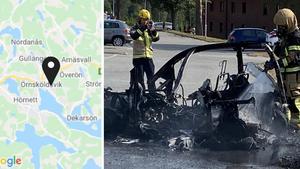 JUST NU: Larm om brinnande mopedbil i Ö-vik