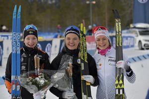 Dampodie med fr.v: Moa Olsson, Falun-Borlänge, Linn Svahn, Östersund och Sofie Henriksson, Piteå