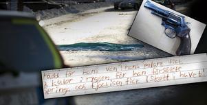Fotomontage: Mikael Hellsten/polisen. Hemlig brevväxling på häktet tycks beskriva Kvarnsvedsmordet i detalj. I dag åtalades tre män för inblandning i dådet.