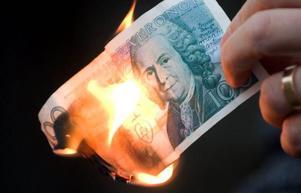 Pengarna kan gå upp i rök.