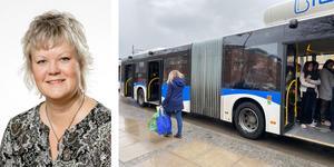 Nina Höijer (S) skriver om hur viktigt det är att betala resan  trots att  det har blivit besvärligare att betala ombord på bussen.