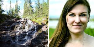 Therese Eriksson trivs bäst ute i naturen och besöker gärna Stopåns naturreservat som du ser till vänster.