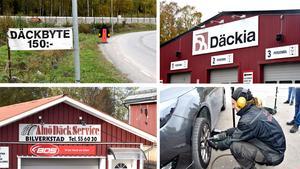 Mängder av däckfirmor i Sundsvall konkurrerar om kunderna nu när det är dags att byta till vinterdäck.