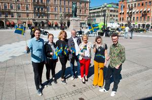 Kim Tjernström, Kulturskolan, Daniela Winbäck, Jubel, Arianne Sundman, ordförande i fullmäktige, Ulf Vikberg, Kulturskolan, Eva Bergström, evenemangsansvarig, Annie Mellström, Jubel och Jonas Söderlund, Jubel.