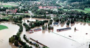 Översvämning Bergsåker. Bild: Mårten Englin