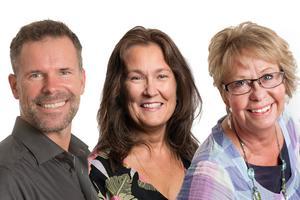 Mats Ekerbring, Jeanette Vogt och Caroline Burstedt är familjerådgivare hos Svenska kyrkans individ- och familjerådgivning i Örebro. Foto: Ulla-Carin Ekblom