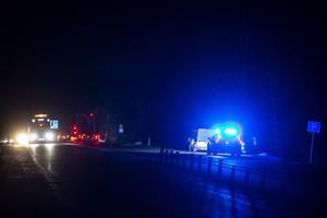 Det råder blixthalka på E4 och en singelolycka inträffade i Överhörnäs under torsdagskvällen.