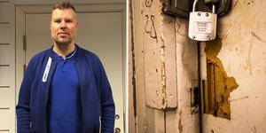 På onsdagen hade förråden på Fagerliden fått nya lås. Det går dock att se hur tjuvarna brutit upp dörrarna.