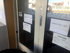 Kulturhuset och biblioteket i Leksand höll stängt under onsdagen.