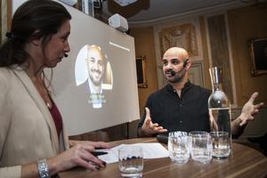 Moderatorn Mia Odabas kallade Ashkan Pouya för näringslivets Zlatan.