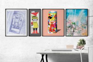 De övriga tre verken i kampanjen har skapats av två konstnärer från Umeå och en från Luleå. Bild. Norrmejerier