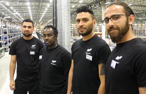 Omar Alhallk, Mahammed Sharif Abdu, Joan Hassan och Hassan Rabeh har precis fått arbete hos Förlagssystem i Falun, detta efter att nyligen genomgått ett så kallat DUA-projekt i Falu kommun.