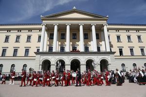 Det norska slottet. Foto: Ola Vatn/NTB scanpix/TT