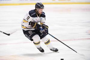 Kristofer Berglund under onsdagens ishockeymatch i SHL mellan Djurgårdens IF och HV71 på Hovet.