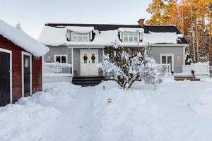 Denna villa på Transtigen i Borlänge kommun kom på plats fem på Klicktoppen för 2017 års sista vecka, sett till objekten från Dalarna. Foto: Patrik Persson