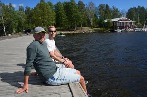Andreas Faehlmann och vännen Tobias Hedwall, även han inflyttad stockholmare.