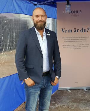 Conny Sohlberg, kontorschef på Fonus begravningsbyrå i Dalarna. Foto: Privat